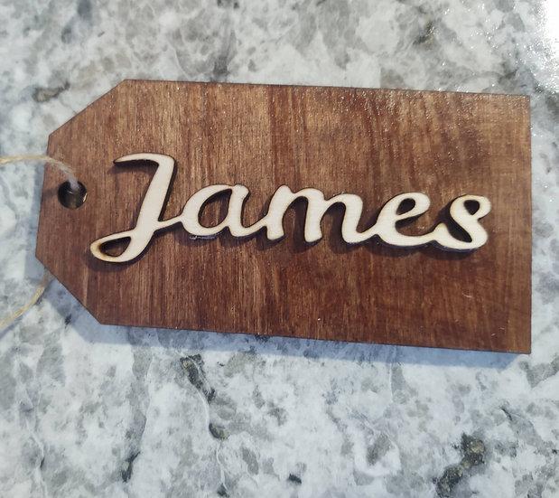 Custom Wood Name Tag