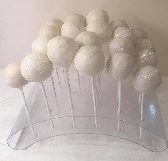 White sprinkle cake pops