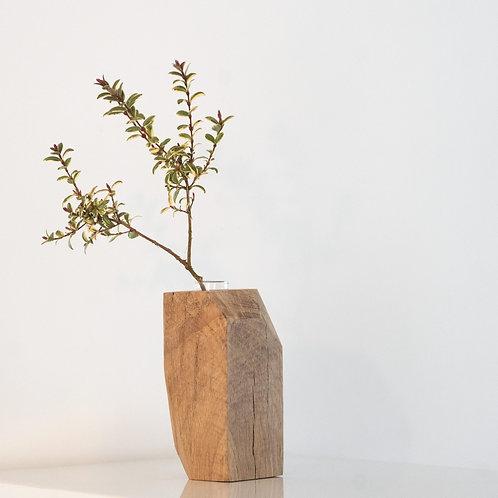Angled Oak Vase