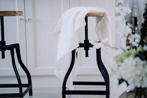 Medium Weight Natural White Soft Linen Bath Towels