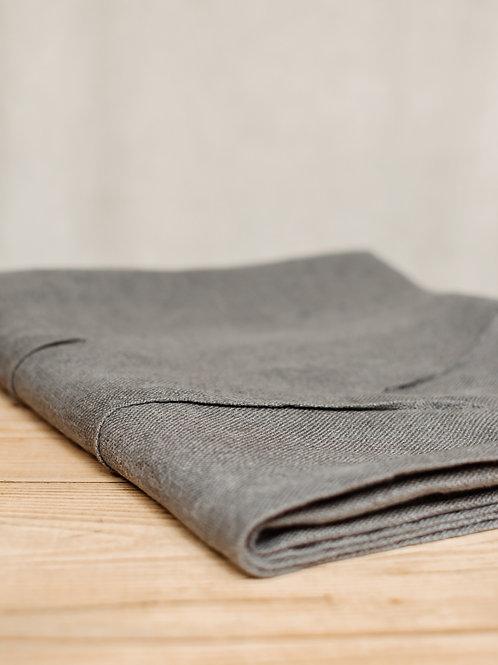 Grey Waves Linen Tablecloth