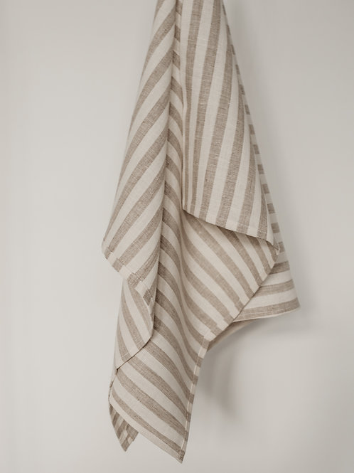 Single Striped Linen Kitchen Towels