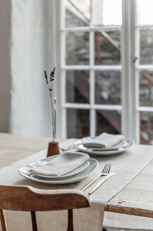 Grey Linen Table Runners & Tablecloths