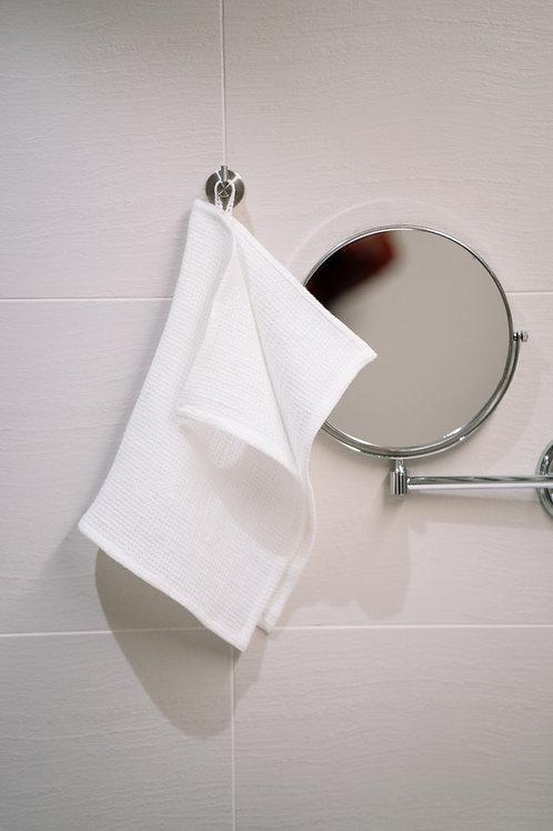 Medium Weight Natural White Soft Linen Face Towels