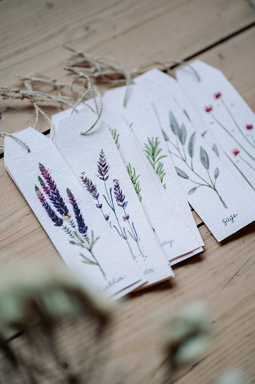 Handpainted Watercolour Bookmarks