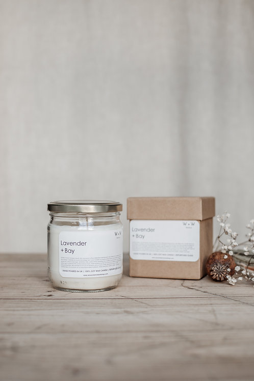 Lavender & Bay Natural Soy Wax Candle