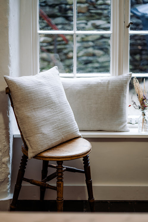 Pair of 2 Grey Pure Linen Cushion Covers
