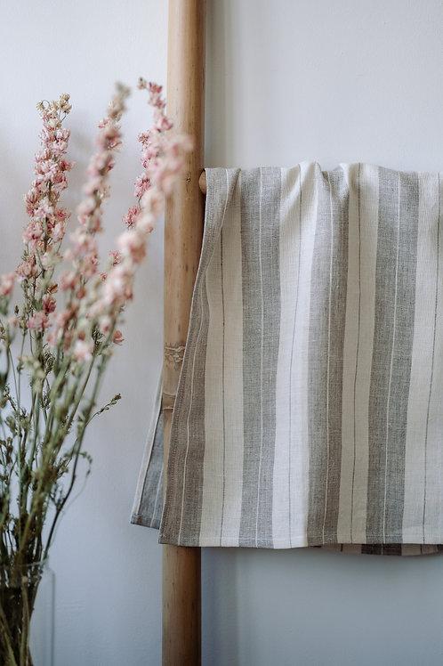 Double Striped Linen Kitchen Towel
