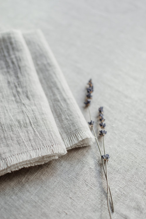 Grey Linen Napkins Pair of 2
