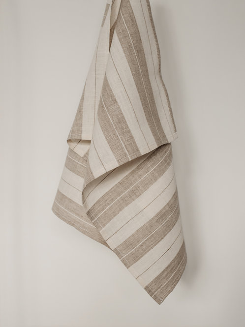 Double Striped Linen Kitchen Towel