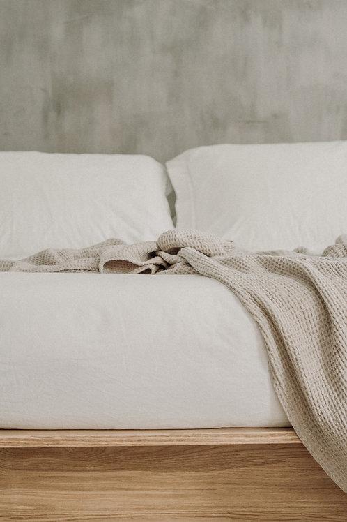 Pure Beige Linen Blanket
