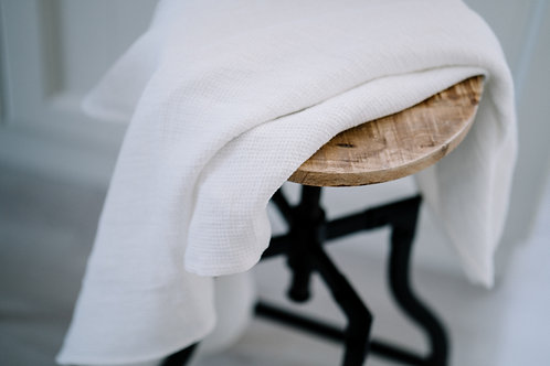 Medium Weight Natural White Soft Linen Hand Towels