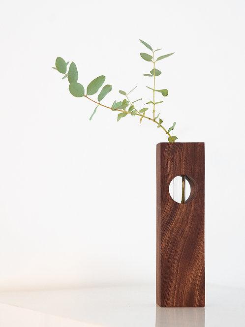 Mahogany Hole Vase