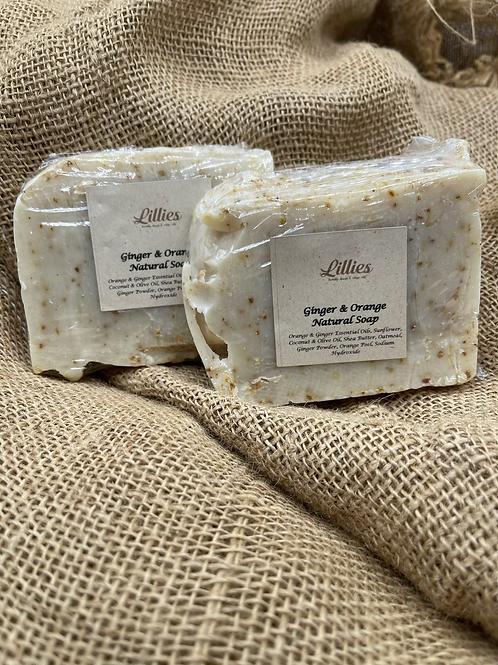 Ginger & Orange Natural Soap Bar