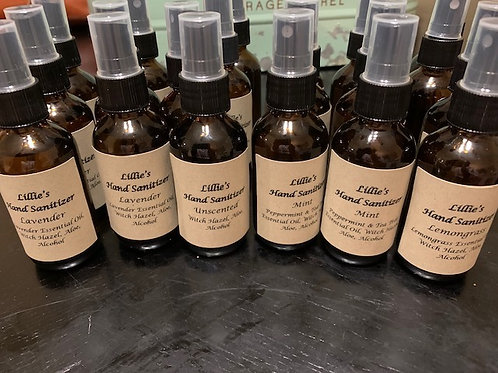 All Natural Hand Sanitizer W/ Alcohol