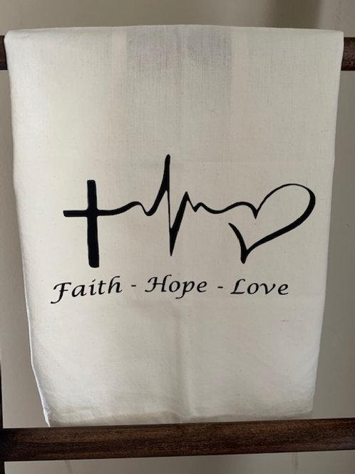 Faith, Hope, Love Towel