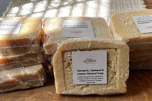 Turmeric, Oatmeal & Lemon All Natural Soap Bar