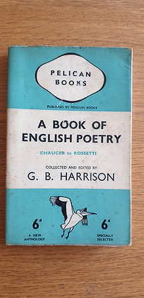 A Book of English Poetry  edited by G. B. Harrison