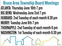 Township Board meetings June