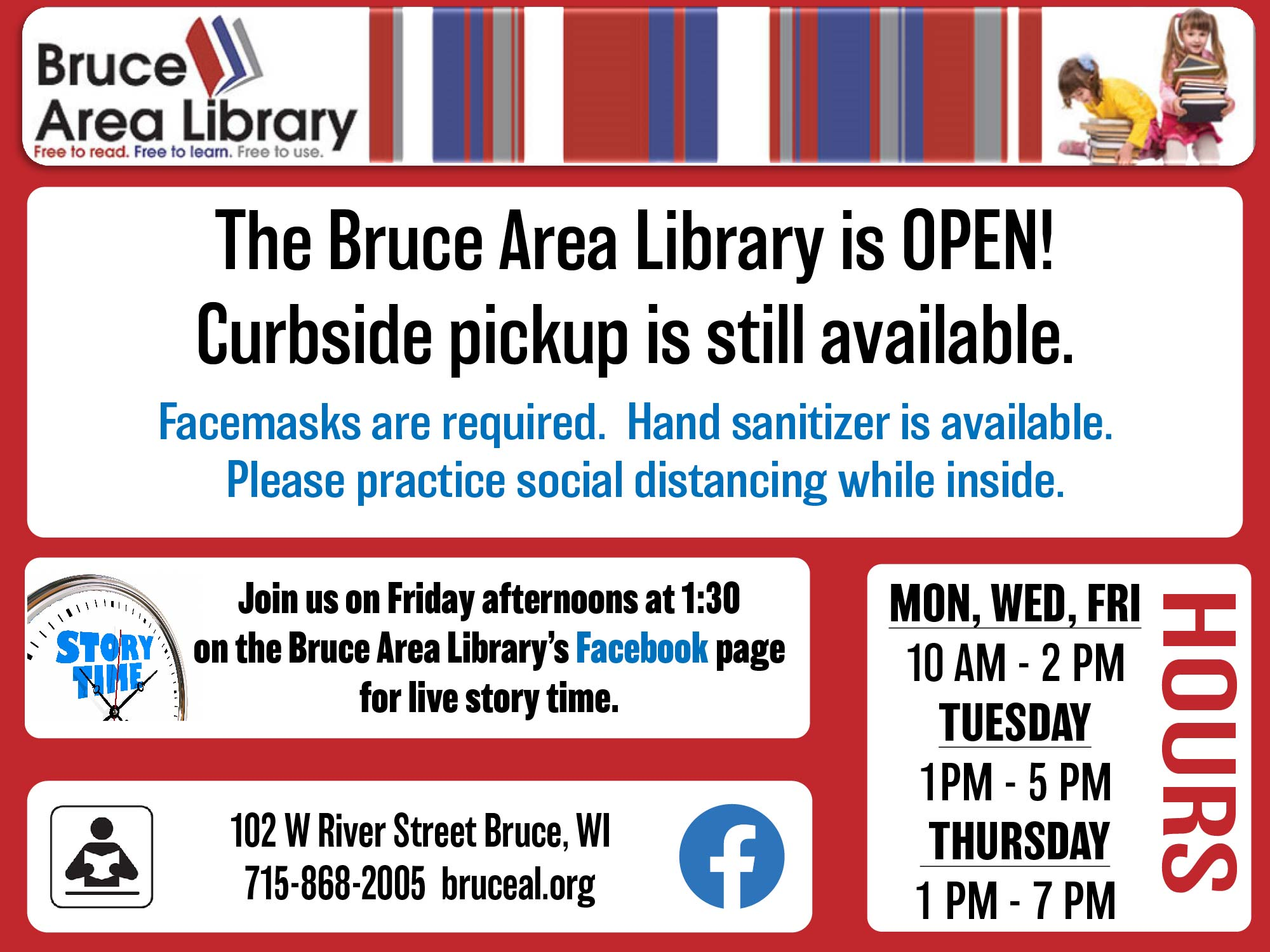 Bruce Area Library March
