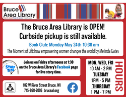 Bruce Area Library May