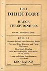 1941 Bruce Telephone Directory