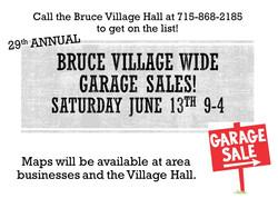 Bruce Village wide garage sales!