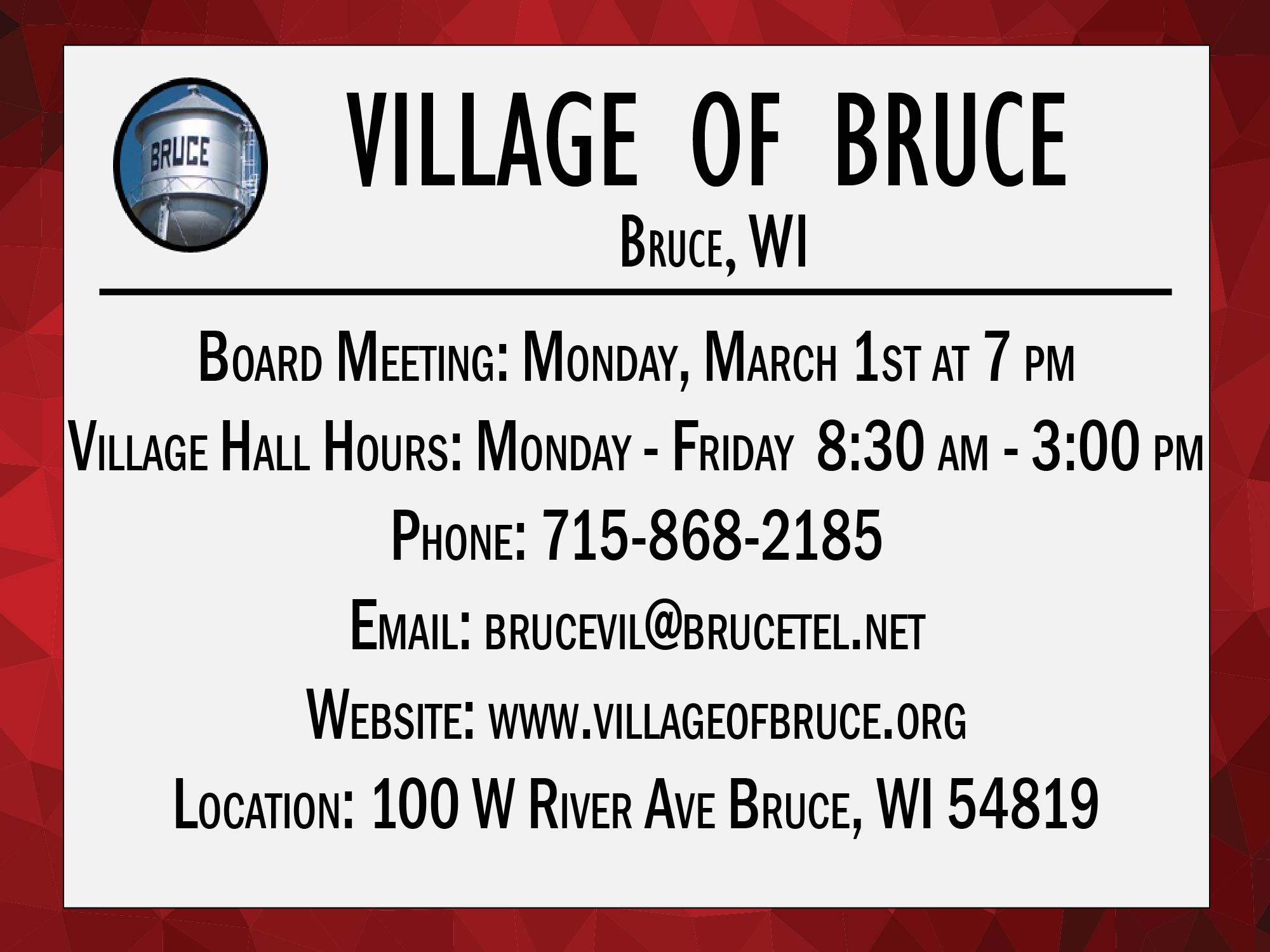 Village of Bruce March