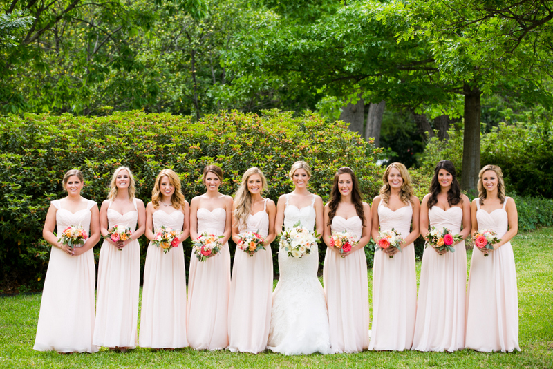 25-Arlington Hall Wedding; Blush, Ivory, & Coral Wedding