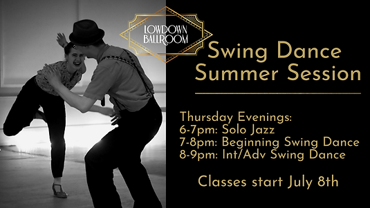 SWING DANCE LESSONS: SUMMER SESSION