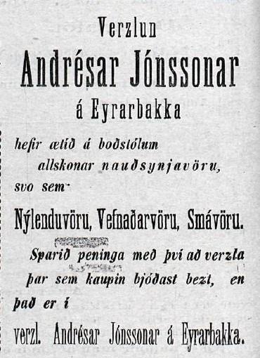 Andrés Jónsson byggði Búðarhamar