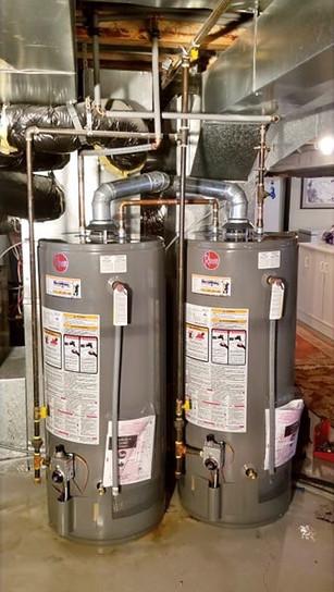Double 40 Gallon Rheem Water Heater