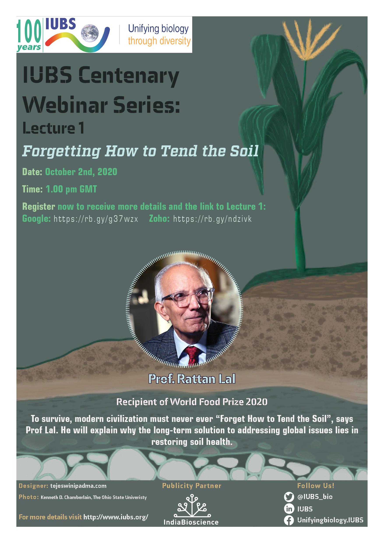 IUBS Centenary Webinar Lecture Poster