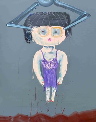 選ばれる No.4, The chosen one No.4,  acrylic on canvas,  100×80.3cm, 2020  Sold