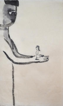 Gypsy 2, 59.5×37.5cm, chinese ink on handmade paper, 2012  Sold