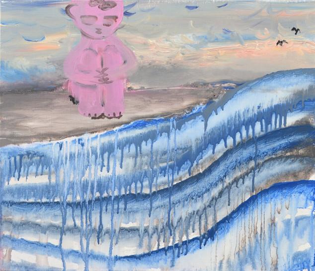 Sorrow,  acrylic on canvas, 45.5×53cm 2018