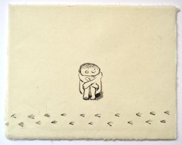 歩み, 26×35㎝, Chinese ink on handmade paper, 2017