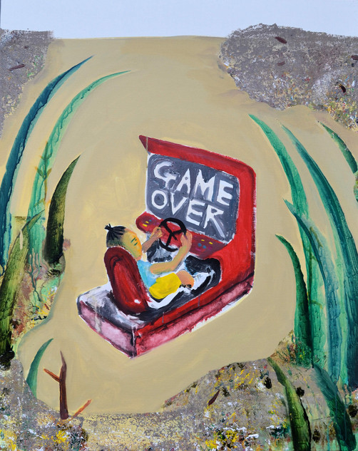 Game over No.2, acrylic on canvas, 100×80.3cm, 2020