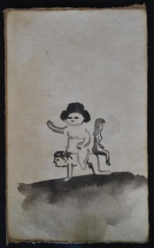 The land of the dead, Chinese ink on handmade paper,
