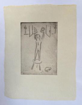 Cookies monotype, ink on handmade paper(雁皮紙), 33×25cm, 2020