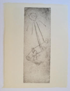 Come back,  29×22cm, monotype, ink on handmade paper(小国和紙), 2020