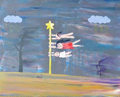 鯉のぼり,  Koinobori, acrylic on canvas, 80.3×100cm, 2020