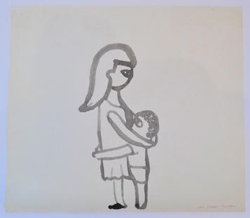 Twilight2, 56×63cm, india ink on handmade paper, 2011