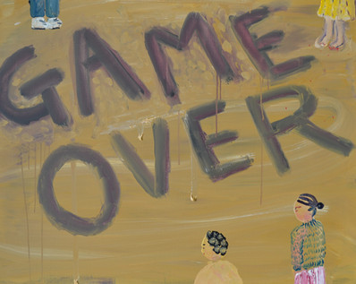Game over, acrylic on canvas, 100×80.3cm、 2020
