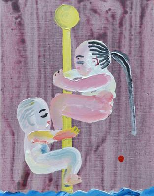 Survive,  acrylic on canvas, 41×31.8cm,  2020