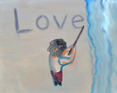 Loveの行方 Where is love 100×80㎝ acrylic on canvas 2019   Sold