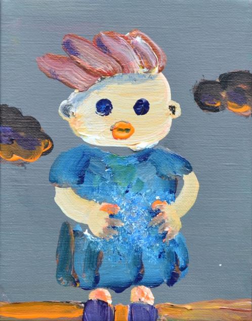生命体 Organism,  18×14cm,  acrylic on canvas,  2019