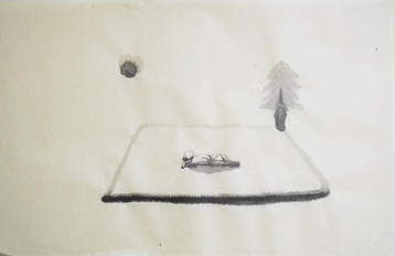 Freedom, chinese ink on handmaade paper, 65×100cm, 2012  Sold