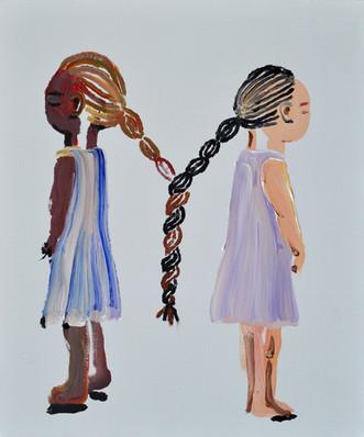 いつの間にか Before we know it  2018  acrylic on canvas 72.7×60.6cm  Sold