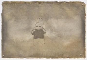 親子, 21.5×32cm, chinese ink on luckerpaper, 2013  Sold